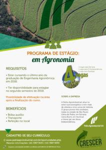 Estagio Agronomia - Pedra Agroindustrial